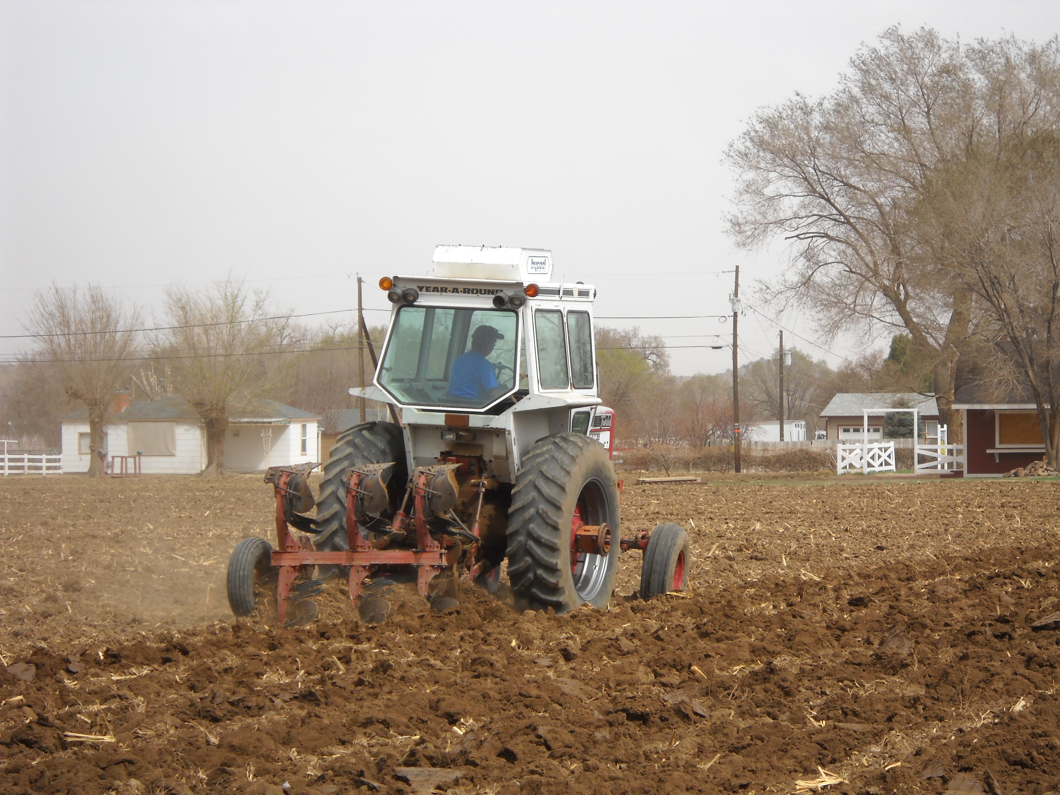 Plowing starts in early spring.