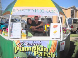 Diana & Jimmy selling corn at Blossom Parade in Canon City.